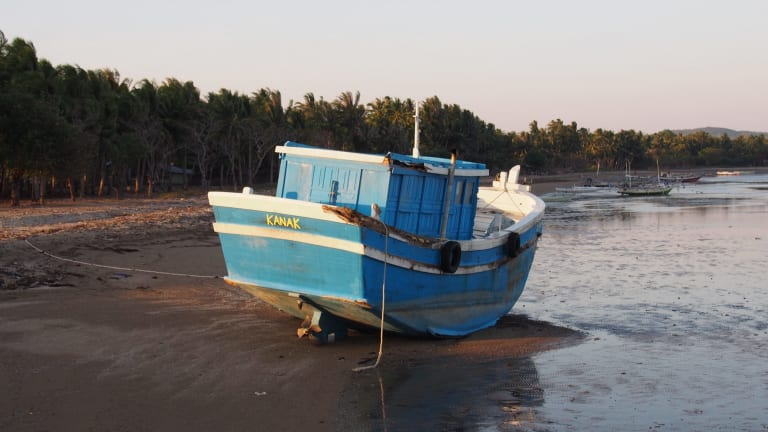 'Kanak', one of two boats which asylum seekers were transferred onto by Australian Border Force after being intercepted and turned back.