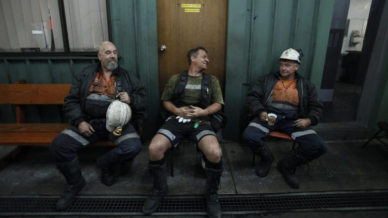 The beginning of a 10 hour shift at Metropolitan Colliery  Helensburgh, a subsidiary of Peabody.