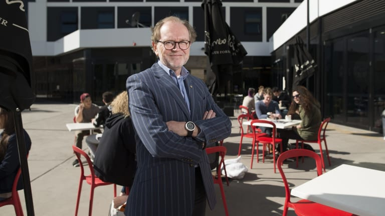 University of Canberra Vice-Chancellor Stephen Parker.