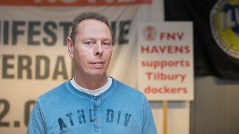 Niek Stam, leader of the FNV Havens labour union.
