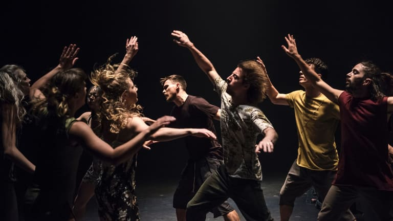 Dancenorth performers in Attractor.
