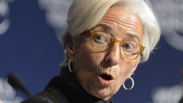 """IMF head Christine Lagarde: """"The greatest challenge we face today is the risk of the world turning its back on global co-operation."""""""