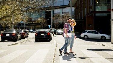 Pedestrians in Bunda Street, Civic.