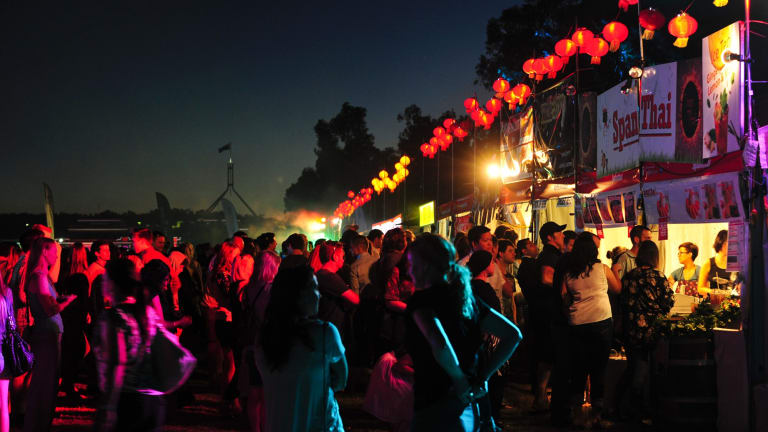 The first Night Noodle Markets helped double the number of people visiting Enlighten 2015.