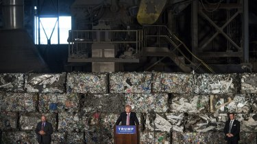 Donald Trump vowed to revive US industries from the heart of the rust belt.