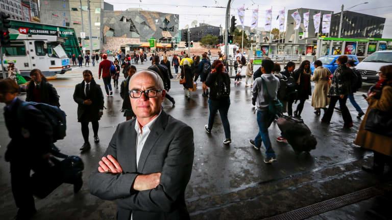Dr Ben Rossiter, executive officer of Victoria Walks, at Flinders Street.