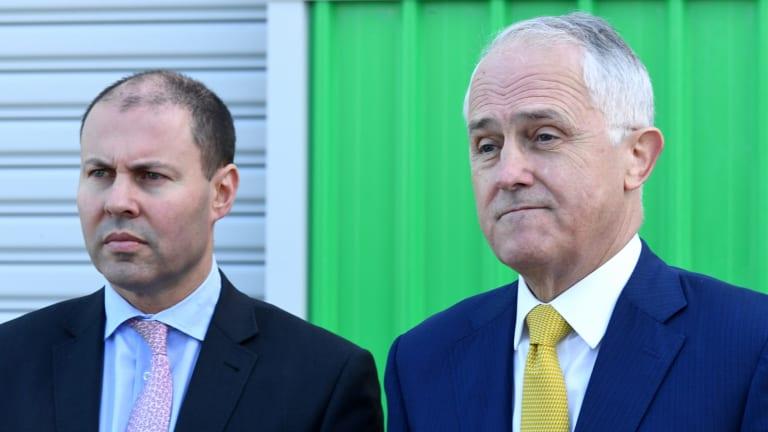 Australian Prime Minister Malcolm Turnbull (right) and Australian Energy Minister Josh Frydenberg.