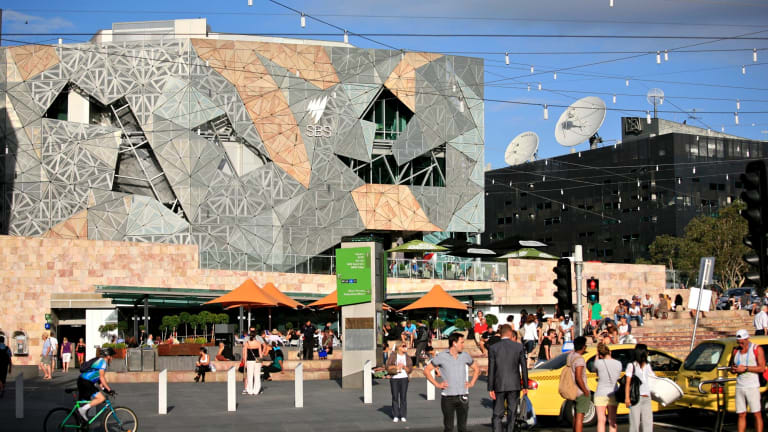 Visitors to Fed Square spend about $13.90 there.
