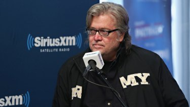 Groomed for power: Stephen Bannon is said to be the only person exempt from Trump's dress code.