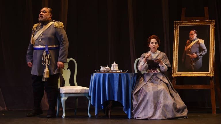 Eddie Muliaumaseali'i and Johanna Allen.