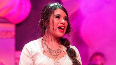 Anna Ritchie in 'Aladdin'.