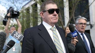 Peter Slipper after his sentencing in September 2014.