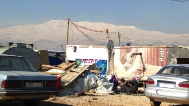 A Syrian refugee camp in the Bekaa Valley. Lebanon houses more Syrian refugees per capita than any other country.