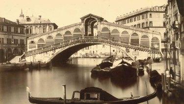 The Rialto, Grand Canal, Venice,  circa 1890.