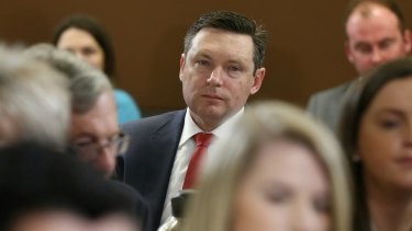 Australian Christian Lobby director Lyle Shelton attends a National Press Club debate in Canberra in July.