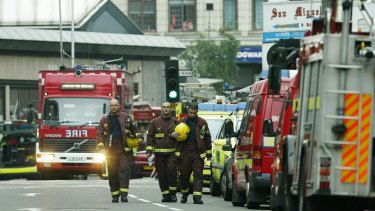 After the bomb exploded at Edgeware Road station in London.
