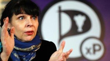 Former Australian resident Birgitta Jonsdottir of the Pirate Party.
