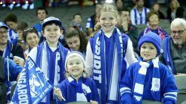 Young North Melbourne fans.