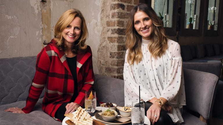 Naomi Simpson and Kate Waterhouse at Beta Bar in Sydney.