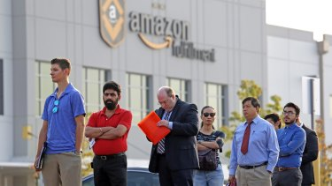 The possibility of an hourly position drew thousands of people to Amazon's jobs fairs, where they started lining up at 4am.