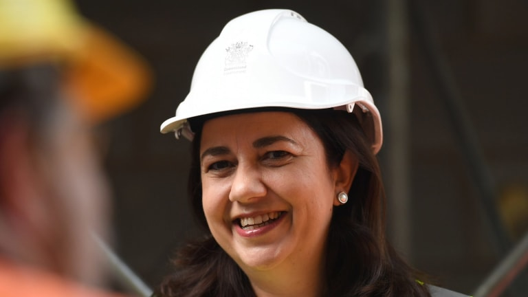 Queensland Labor leader Annastacia Palaszczuk said she would veto a billion-dollar loan to the Adani company if she was re-elected.