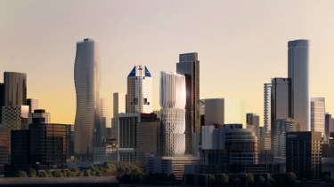 Plans for 600 Collins Street by Zaha Hadid Architects is one of a number of striking developments potentially reshaping Melbourne's skyline.