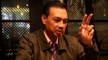 """Former 'Gafatar' (Gerakan Fajar Nusantara)"""" member Mahful Tumanurung in Jakarta."""