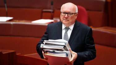 Attorney-General George Brandis during question time on Monday.