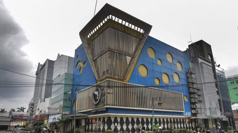 A 1950s revival style fun palace at Blok M, Jakarta.