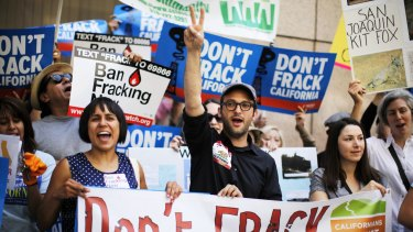 A protest against fracking in Los Angeles.