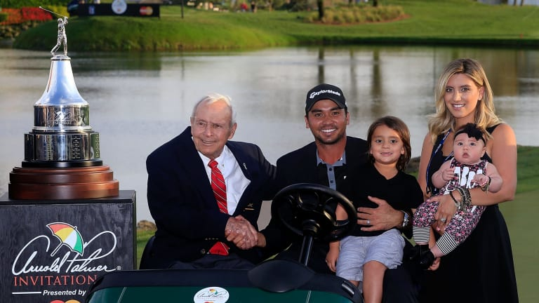 Arnold Palmer with Jason Day and family.