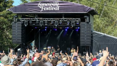 Gang of Youths performing at St Jerome's Laneway Festival in Sydney last month.