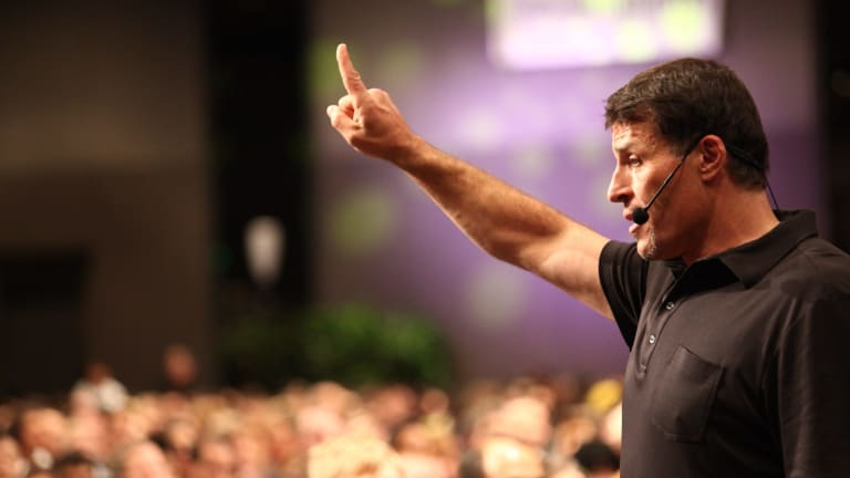 """When you talk about s--t, it's a dream. When you envision it, it's exciting. When you plan it, it's possible. When you schedule it, it's real,"" says Tony Robbins."