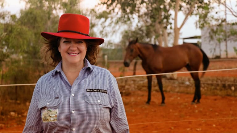 Gina Rinehart's wealth increased by $US8.1 billion, from $US8.5 billion in 2016, according to the 2017 Forbes Australia Rich List.