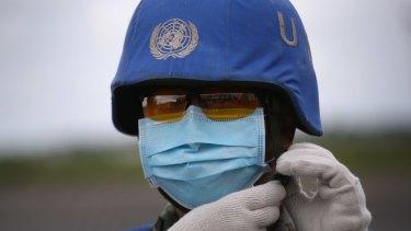 A UN solider in Africa in 2013.