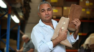 """""""I want to take this right to the end:"""" Australian Leather owner Eddie Oygur, who is fighting for the right to use the term 'ugg boots.'"""