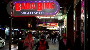 The premises of Kings Cross strip club Bada Bing has seen its land value drop.