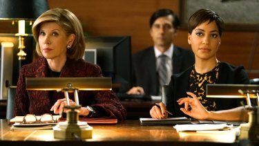 Christine Baranski as Diane Lockhart with Cush Jumbo in The Good Fight.