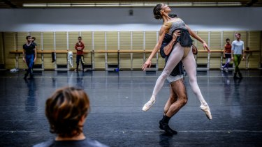 Wendy Ellis Somes watches Robyn Hendricks and Cristiano Martino rehearse in Sydney.