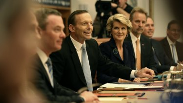 Foreign Minister Julie Bishop is one of just two female members of the Abbott government cabinet.
