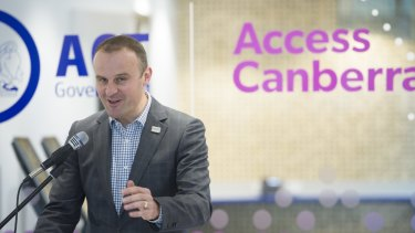 ACT Chief Minister Andrew Barr will appoint a new chief digital officer.