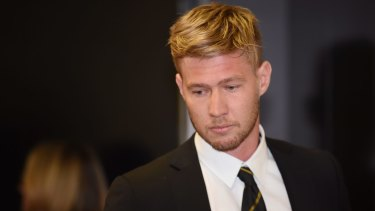 Richmond's Nathan Broad has apologised for his actions.