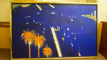 This allagedly faked painting, 'Blue Lavender Bay, was sold for $2.5 million in 2007.