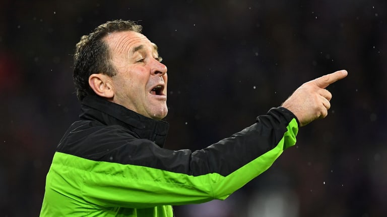 Ricky Stuart was named the NRL's coach of the year on Wednesday night.