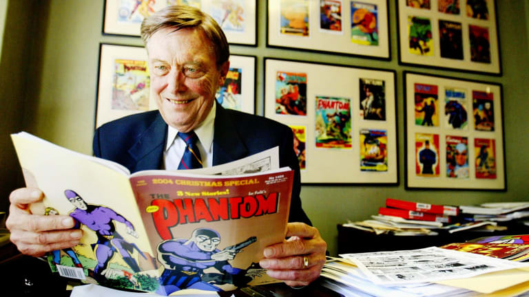 Jim Shepherd, the Australian publisher of the Phantom comics, in 2004. Shepherd was director of Frew Publications and also wrote many of the Phantom stories published here under licence from King Features.