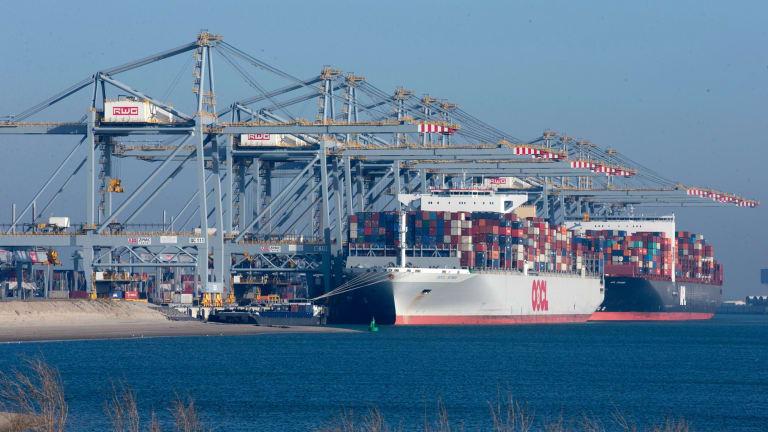 Automation has decimated jobs at Rotterdam's Maasvlakte port, Netherlands.
