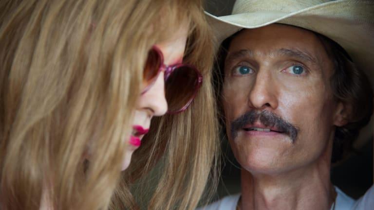 Jared Leto, left, and Matthew McConaughey in <i>Dallas Buyers Club</i>.