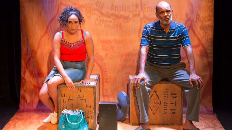 Katie Beckett and Tony Briggs in the 2017 Sydney Festival run of <i>Which Way Home</i>.