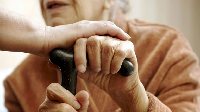 The government funds aged care for elderly people with low means.