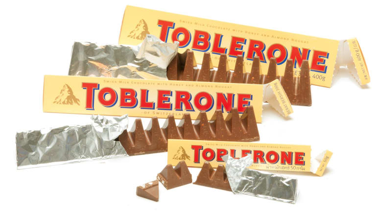 "Toblerone has been hit by ""shrinkflation""."